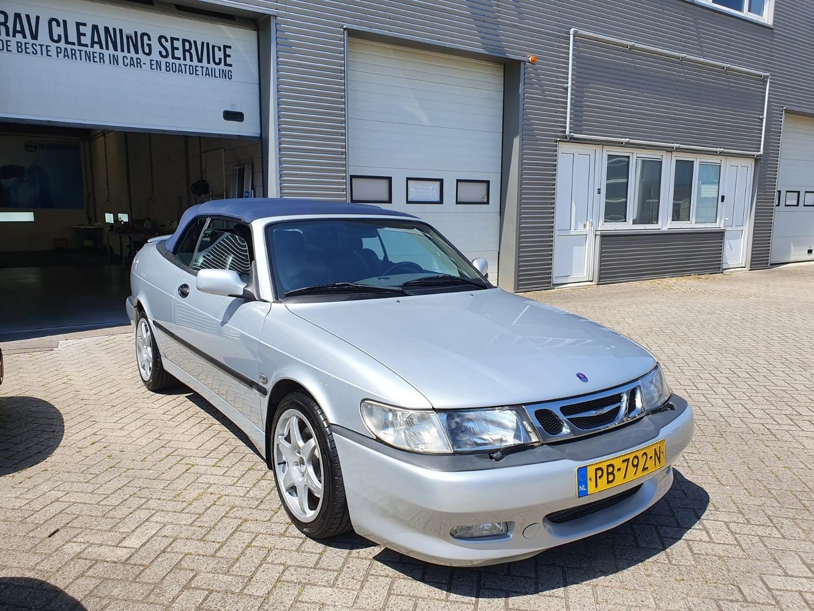 Saab 9-3V1 cabrio Aero grijs 81.000km bouwjaar 1998